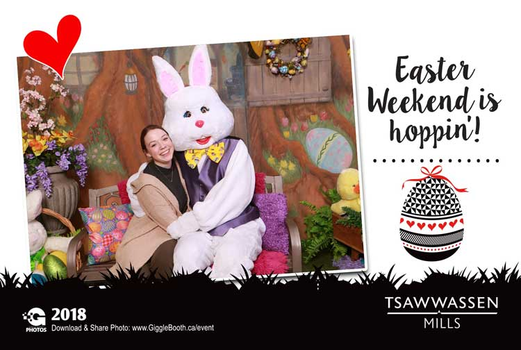 Tsawwassen Mills Easter Bunny Photos 2018