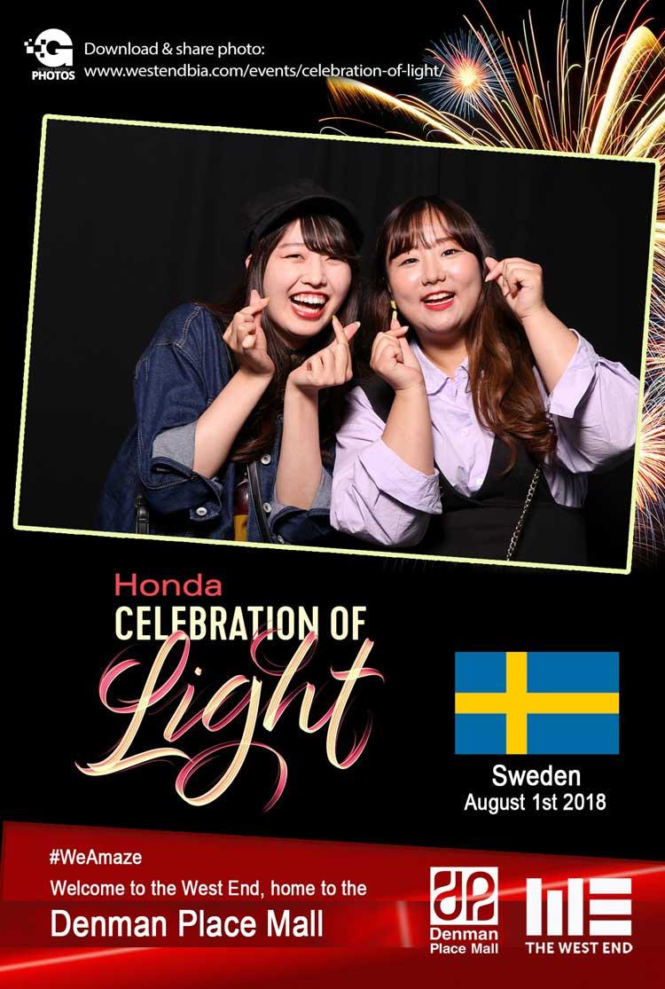 Honda Celebration of Light 2018 Sweden