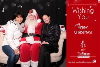 The Shops at Morgan Crossing Santa 2019